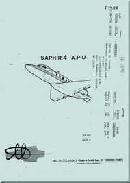 Microturbo Saphir 4  Auxiliary Power Unit Maintenance   Manual - 1971