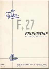 Fokker F-27  Friendship Aircraft  Description and Performance  Manual -