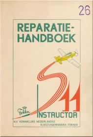 Fokker S-11  Aircraft  Repair Handbook Manual -  ( Dutch Language )