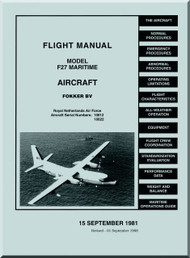 Fokker F-27  Maritime Aircraft Flight Manual -