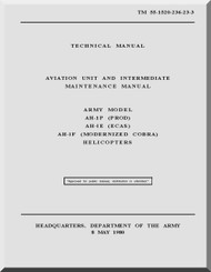 Bell Helicopter AH-1 P E F Technical  Manual   - TM 55-1520-236-23-3
