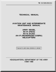 Bell Helicopter AH-1 P E F  Aviation Unit and Intermediate Maintenance  Manual  - TM 55-1520-236-23-4
