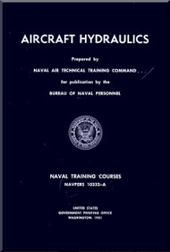 Aircraft Hydraulics NAVY Training Courses Manual  - 19501. NAVPERS 10332-A