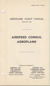 Airspeed Consul  Aircraft Aeroplane Flight Manual