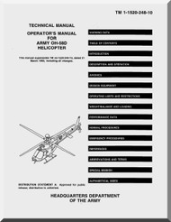 Bell Helicopter OH-58 D  Helicopter Operator Manual  - TM 55-1520-248-10