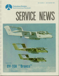 North American Aviation  / Rockwell OV-10  Aircraft Service News  Manual - July 1970