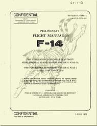 Grumman F-14  Aircraft Preliminary Flight Manual - 01-F14A-1 - 1972