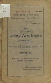 Liberty 12  HP Aircraft Engine Handbook  Manual  - 1918