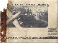 A. V. Roe Avro 688 Tudor  Aircraft Illustrated Spare Parts Catalog  Manual -  1946