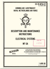 Northrop NF-5 A  Aircraft Description and Maintenance Instructions - Electrical Systems   Manual - EO 05-NF5A-2F - 1969
