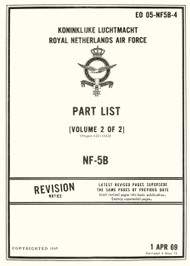 Northrop NF-5 B Aircraft Illustrated Parts  Manual - EO 05-NF5AB-4 - Volume 2 of 2 - 1969