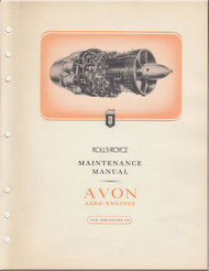 Rolls Royce Avon Aircraft Engines  Maintenance Manual -  T.S.D. Publication 318 - 1952