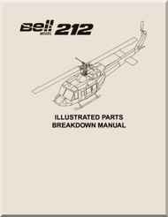 Bell Helicopter 212 Illustrated Parts Breakdown  Manual -