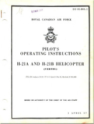Piasecki H-21 A,B  Helicopter  Pilot's Operating Instructions  Manual - , 1957