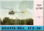 Agusta Bell Helicopter 47 G 3B1 Technical Brochure  Manual  ( Italian English Language )
