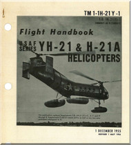 Piasecki YH-21 &  H-21 A  Helicopter  Flight Handbook  Manual - , 1956 - TM 1-1H-21Y-1