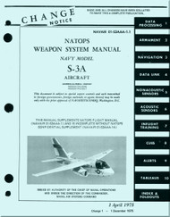 Lockheed S-3 A  Aircraft  Weapon System Manual-  NAVAIR 01-S3AAA-1.1
