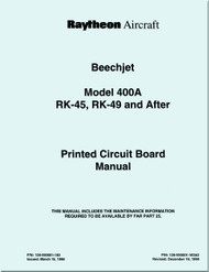 Hawker Raytheon Beechcraft Mitbushi  Mu-300 / Hawker 400 A  / Beechjet 400 Aircraft Printed Circuit Manual
