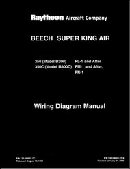 Beechcraft Super King Air  350 and 350 C ( FL-1 , FM-1 )  Aircraft Wiring Diagram  Manual