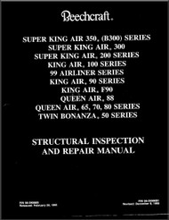 Beechcraft Twin Engines Aircraft Structural Repair   Manual