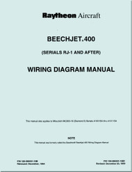 Hawker Raytheon Beechcraft  Beechjet 400 Aircraft  Wiring  Manual