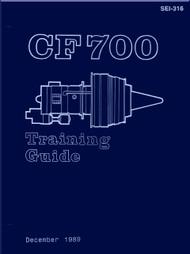General Electric  GE CF700 Turbofan Aircraft Engine Training Guide Manual SEI-316