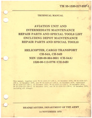 Sikorsky S-64 CH-54 A B Helicopter Maintenance  and Parts Manual - 55-1520-217-23P-1