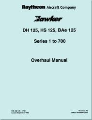 Raytheon Beechcraft  Hawker  DH 125 HS 125 BAe 125 Aircraft Overhaul Manual