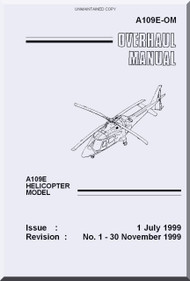 Agusta A.109  E Overhaul  Manual  ( English Language  )