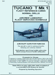 Short  Tucano  T Mk.1 Aircraft  Flight References Cards  Manual