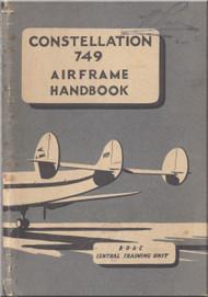 Lockheed Constellation 749 Series Aircraft Airframe Handbook Manual -  BOAC