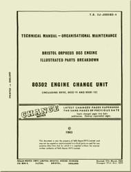 Bristol Orpheus 803 Aircraft Engine Illustrated Parts Breakdown  Manual -  T.O. 2J-J80302-4