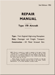 Bristol 170 Freighter  Aircraft  Repair Manual