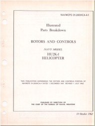 KAMAN HU2K-1 Helicopter Illustrated Parts Breakdown Manual - Rotors & Controls  NAVWEPS 01-2600HCA-4-1 , 1962