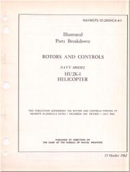 KAMAN HU2K-1 Helicopter Illustrated Parts Breakdown Manual - Rotors & Controls  NAVWEPS 01-2600HCA-4-1 , 1962