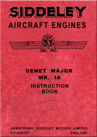 Armstrong Siddeley Genet Major Mk 1A Aircraft Engine Maintenance Manual Instruction Book