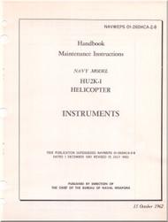 KAMAN HU2K-1 Helicopter Maintenance Manual - Instruments -   NAVWEPS 01-2600HCA-2-8 , 1962