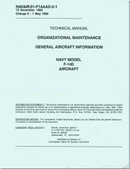 Grumman F-14 D NATOPS  Organizational Maintenance General Aircraft Information Manual NAVAIR   01-F14AAD-2-1