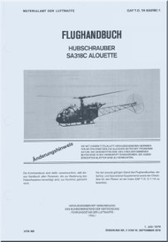 Sud Aviation  / SNCASE / Aerospatiale  SA-318 C  Alouette  II Helicopter  Flight Manual   - 1979 GAF T.O. 1H-SA318C-1