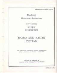 KAMAN HU2K-1 Helicopter Maintenance Manual - Radio and Radar  Systems  -   NAVWEPS 01-2600HCA-2-10 , 1962