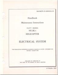 KAMAN HU2K-1 Helicopter Maintenance Manual - Electrical System  -   NAVWEPS 01-2600HCA-2-9 , 1962