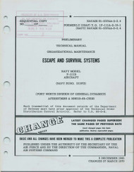 General Dynamics F-111 B  Aircraft Maintenance   Manual -  Escape and Survival Systems -  NAVAIR 01-10FAA-2-2-4