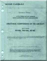 Mc Donnell Douglas AV-8A TAV-8A, AV-8C Aircraft Structural Repair  Manual  Structural Components  - NAVAIR 01-AV8A-3-2-2