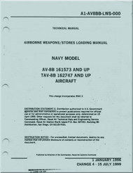 Mc Donnell Douglas AV-8B TAV-8B Aircraft Airborne Weapons / Store Loading   Manual -  NAVAIR 01-AV8BB-LWS-000