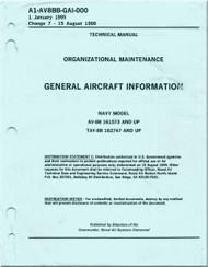 Mc Donnell Douglas AV-8B TAV-8B Aircraft Organizational Maintenance  Manual - General Aircraft Information - A1-AV8BB-GAI-000 - 1999