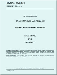 Grumman EA-6 B Aircraft Escape and Survival Systems  Maintenance Manual - 01-85ADC-2-5