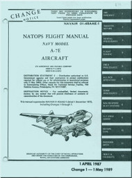 "LTV / Vought A-7 E "" Corsair II  ""  Aircraft Flight  Manual 01-45AAE-1 - 1989"