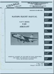 """Vought F8 H """" Crusader """" Aircraft Flight  Manual 01-45HHE-1"""