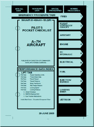 LTV / Vought A-7 H  Aircraft Pilot's Pocket Checklist  Manual 01-45AAH-1B ( GR)  -