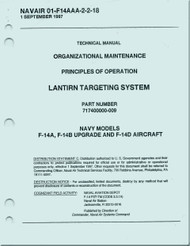 Grumman F-14 A, B, D  Aircraft Organizational Maintenance Manual - LANTIRN Targeting System NAVAIR 01-F14AAA-2-2-18